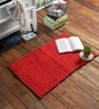 SWHF Red Cotton 30 x 20 Inch Bubble Rug