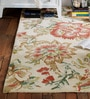 SWHF White Cotton 59 x 95 Inch Victorian Extra Large Carpet