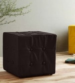 Sylvie Pouffe in Brown Leatherette
