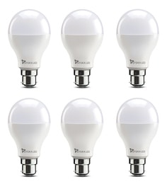 Syska B22 12-Watt LED Bulb (Pack Of 6, Warm White/Yellow )