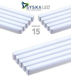 Syska 22 Watts T5 LED Tube Light (Pack Of 15, Cool Day Light)