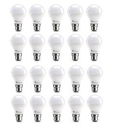 Syska B22 7-Watt LED Bulb (Pack Of 20, Warm White/Yellow )
