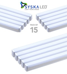 Syska 22 Watts T5 LED Tube Light (Pack Of 15, Warm White/Yellow )