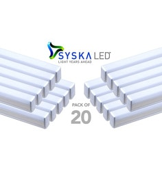 Syska 22 Watts T5 LED Tube Light (Pack Of 20, Warm White/Yellow )