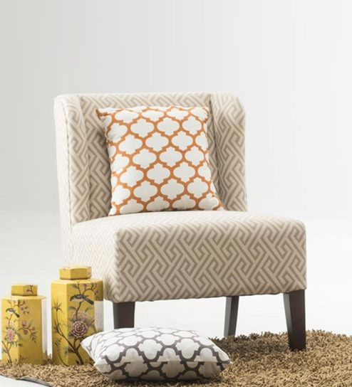 buy sydney accent chair in beige colour by durian online accent