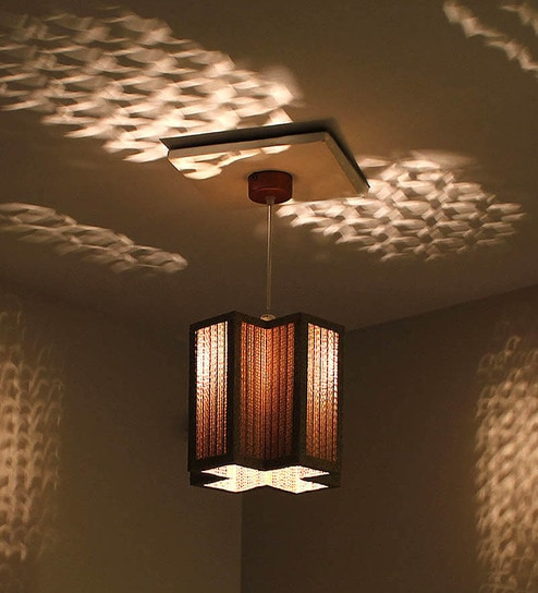 Sylvn studio plush corrugated board pendant