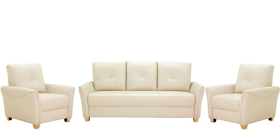 Buy Sydney Sofa Set 3 1 1 Seater In Ivory Colour By