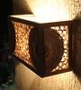 Brown Corrugated Board Estrella Wall Mounted Lamp by Sylvn Studio