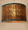 Brown Corrugated Board Tromme Pendant by Sylvn Studio