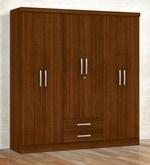 Kimura Six Door Wardrobe in Teak Finish