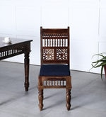 Taksh Handcrafted Dining Chair in Provincial Teak Finish