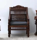 Taksh Handcrafted Single Seater Sofa in Provincial Teak Finish