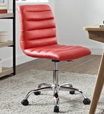 Tangy Ergonomic Chair in Red Leatherette