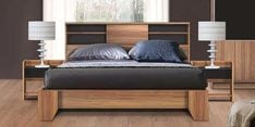 Takato Queen Bed in Walnut Finish