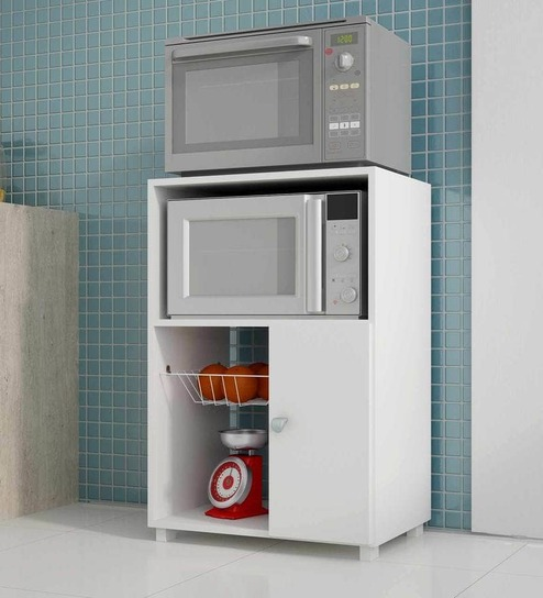 Buy Takeko Kitchen Cabinet in White Finish On Rent Online - Hutch Cabinets - Furniture On Rent In Bengaluru - Furniture Rental - Pepperfry Product