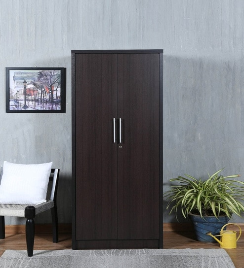 Takeshi Two Door Wardrobe in Wenge Finish by Mintwud & Buy Takeshi Two Door Wardrobe in Wenge Finish by Mintwud Online ...