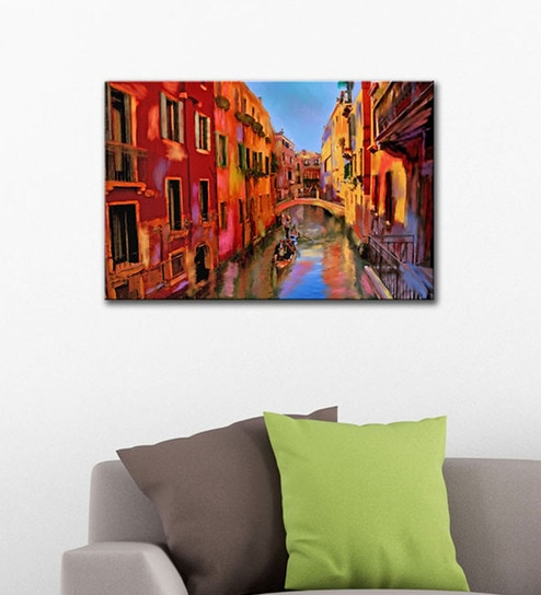 Buy Canvas 24 x 16 Inch Painting of Gondola Ride In Venice Framed ...