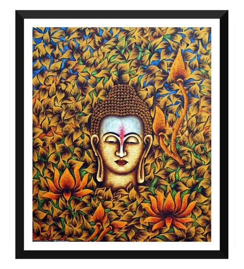 Buy Tallenge Paper 12 X 05 X 17 Inch Buddha With Flowers Leaves