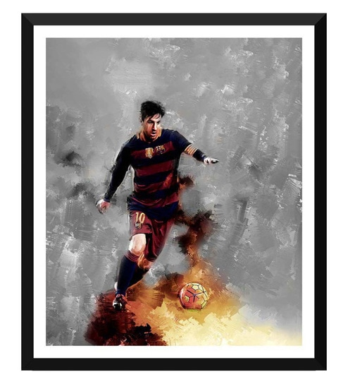 6752e81d698 Buy Paper 15 x 0.5 x 18 Inch Spirit of Sports Painting Soccer Superstars  Lionel Messi Framed Digital Poster by Tallenge Online - Sport Posters -  Sport ...