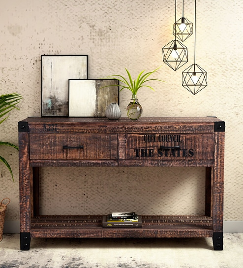 Outstanding Talon Solid Wood Console Table In Distress Finish By Bohemiana Gmtry Best Dining Table And Chair Ideas Images Gmtryco