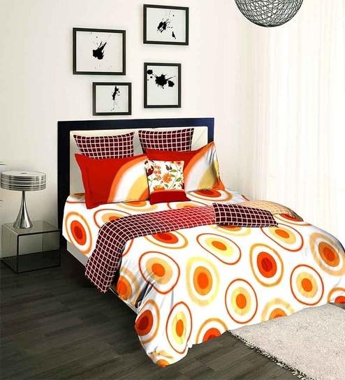 Tangerine Scarlet Sunset Orange Double Duvet Cover