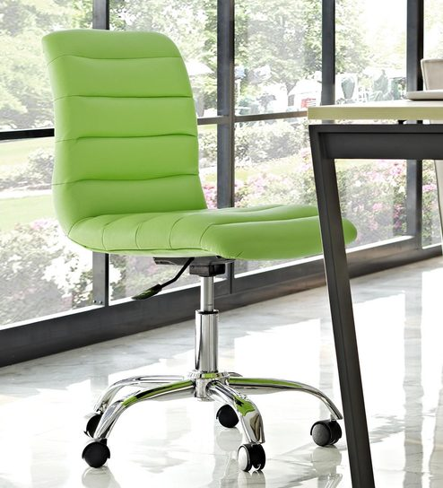 Buy Tangy Ergonomic Chair In Green Leatherette By Exclusive