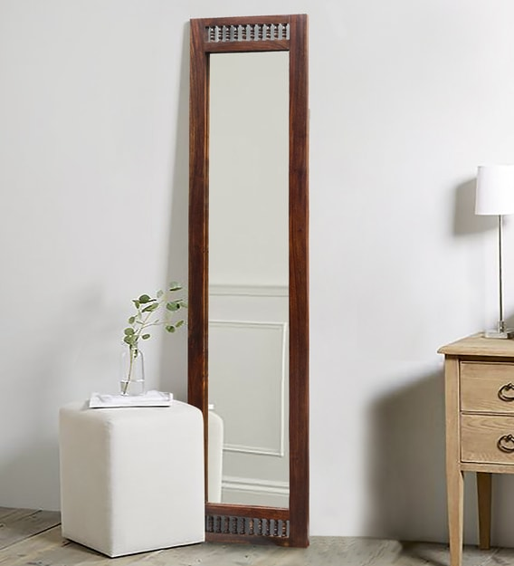 Buy Solid Wood Full Length Mirror In Brown Colour By Mudramark Online Full Length Mirrors Wall Accents Home Decor Pepperfry Product