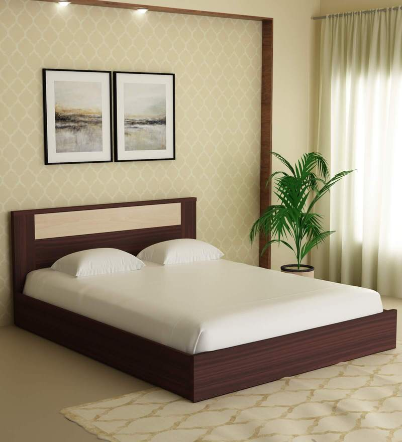 Queen Size Bed: Buy Takai Queen Size Bed In Wenge Finish By Mintwud Online