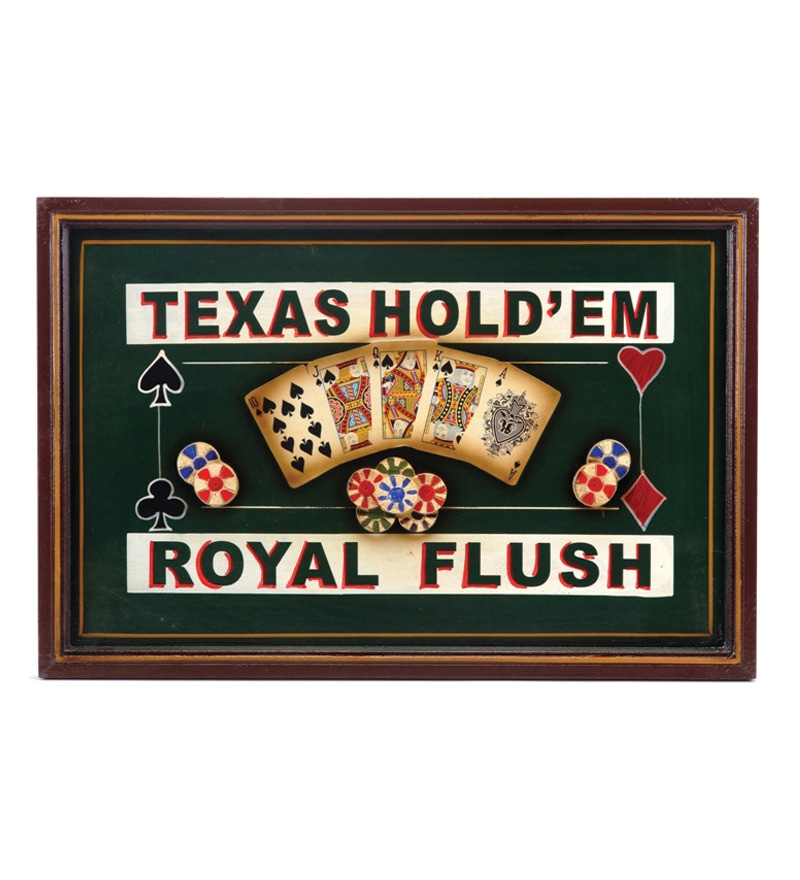 Take Me Home Texas Hold'Em 3D Bar Sign