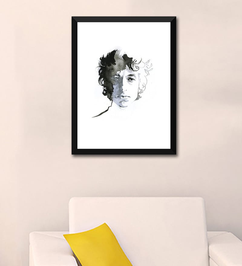 Paper 12 x 17 Inch Bob Dylan Framed Poster by Tallenge