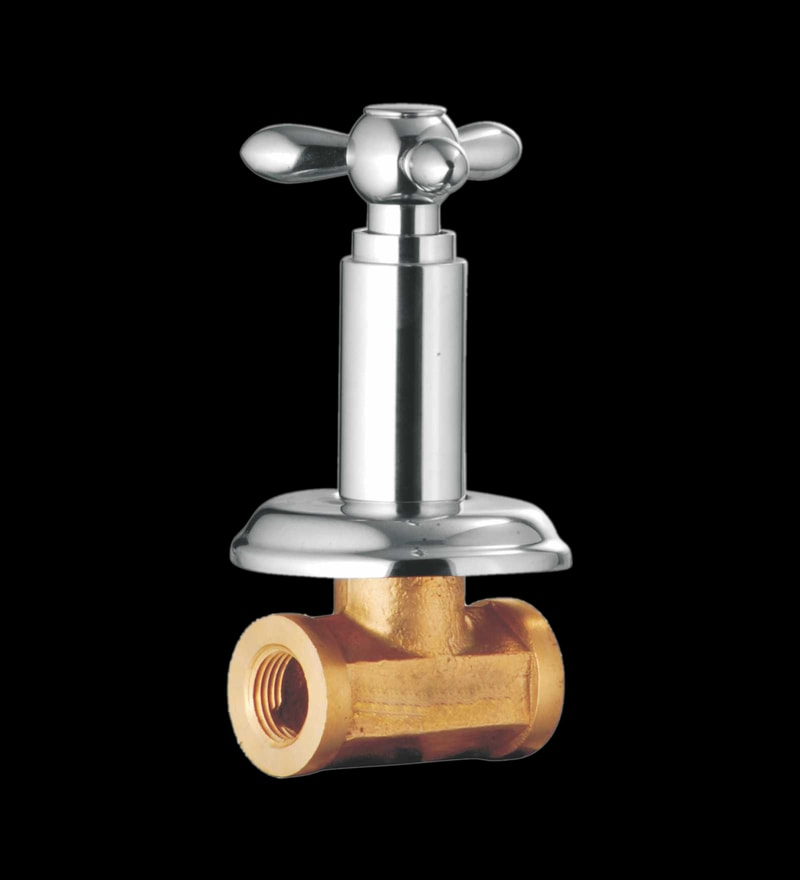Taptree Tristar Silver Brass Concealed Stop Cock
