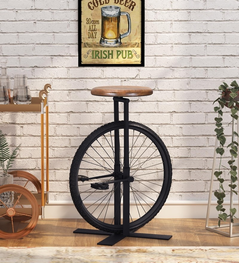 Bar Stool: Fusion of Old With The New, The Bold With Muted Colours