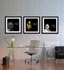 Tallenge Canvas 15 x 15 Inch Mahatma Gandhi Framed Digital Art Prints - Set of 3