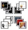 Tallenge Multicolor Canvas 15 x 15 Inch Mahatma Gandhi Framed Digital Art Prints - Set of 12