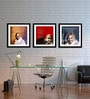Tallenge Multicolor Canvas 15 x 15 Inch Mahatma Gandhi Framed Digital Art Prints - Set of 3