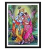 Paper 12 x 0.5 x 17 Inch Beautiful Radha Krishna Framed Digital Poster by Tallenge