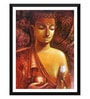 Paper 12 x 0.5 x 17 Inch Divine Buddha Painting Framed Digital Poster by Tallenge