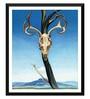 Tallenge Paper 12 x 0.5 x 17 Inch Georgia O'Keeffe Deer's Skull with Pedernal Framed Digital Poster