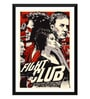 Paper 12 x 0.5 x 17 Inch Hollywood Collection Fight Club Retro Art Framed Digital Poster by Tallenge