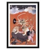 Paper 12 x 0.5 x 17 Inch Indian Art Pahari Style Mother Goddess C1750 Framed Digital Poster by Tallenge