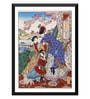 Tallenge Paper 12 x 0.5 x 17 Inch Japanese Art Japanese Women in Western Clothing Framed Digital Poster
