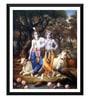 Paper 12 x 0.5 x 17 Inch Krishna & Balarama in Vrindavana Framed Digital Poster by Tallenge