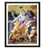 Paper 12 x 0.5 x 17 Inch Krishna Playing with Kumaras Framed Digital Poster by Tallenge