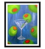 Tallenge Paper 12 x 0.5 x 17 Inch Martini Dream Framed Digital Poster