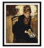 Tallenge Paper 12 x 0.5 x 17 Inch Mary Cassatt Framed Digital Poster