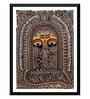 Paper 12 x 0.5 x 17 Inch Mithila Art Ganesha Framed Digital Poster by Tallenge