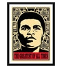 Paper 12 x 0.5 x 17 Inch Muhammad Ali If I Fail We All Fail Framed Digital Poster by Tallenge