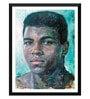 Paper 12 x 0.5 x 17 Inch Muhammad Ali The Portrait of A Young Boxer Oil Painting Framed Digital Poster by Tallenge