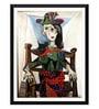 Tallenge Paper 12 x 0.5 x 17 Inch Pablo Picasso Dora Maar Au Chat Framed Digital Poster