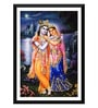 Paper 12 x 0.5 x 17 Inch Radha Krishna Evening At Lake Framed Digital Poster by Tallenge